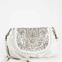 Ecote Lasercut Scalloped Crossbody Bag-