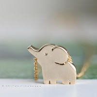 gold cute elephant necklaces,animal necklaces,girls necklaces  ,unique necklaces,beautiful necklaces,pretty necklaces,womens necklace