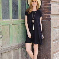 Tess T-Shirt Dress: Black