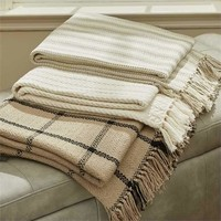 Cable Knit Throw - Cream