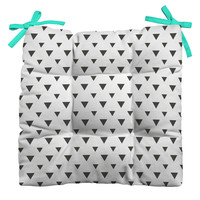 Allyson Johnson Upside Down Triangles Outdoor Seat Cushion