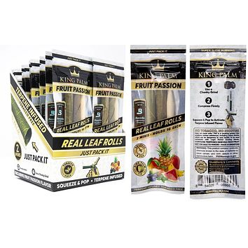 King Palm Flavored Mini Wraps - Fruit Passion (20 pack)