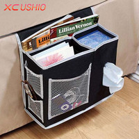 6 Pockets Bed Sofa Hanging Storage Bag Bedside Pocket Pouch Sundries Tissue Book Magazine Pouch
