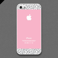 iPhone 5 / 5s Case - Pink and Gray Leopard Pattern cases, iPhone Case, iPhone5 Case, Cases for iPhone5, iPhone5s Case, Cases for iPhone5s