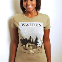 Walden book cover t-shirt | Outofprintclothing.com