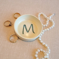 Custom Ring Dish, Personalized Initial, Jewelry Holder