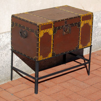 Painted and Stud Decorated 19th Century American Box