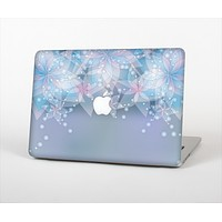 """The Translucent Glowing Blue Flowers Skin Set for the Apple MacBook Pro 13"""""""