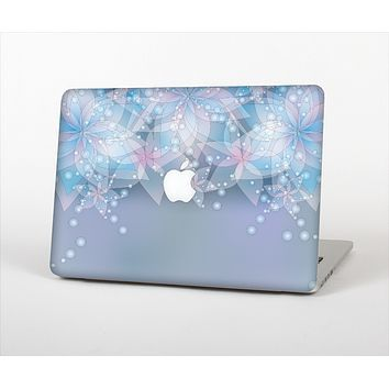 """The Translucent Glowing Blue Flowers Skin Set for the Apple MacBook Air 13"""""""