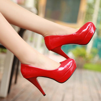 Fashion classic version of the bride shoes red wedding shoes high heel-75 from shopkaleidoscopeeyes