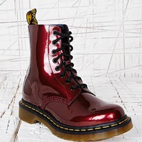 Dr. Martens Pascal 8 Eyelet Patent Boots in Red at Urban Outfitters