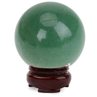 25mm + Stand Natura Quartz Crystal Green Aventurine Quartz Crystal Ball Healing Sphere Large Crystal  Healing Stone