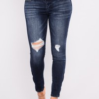 Hey Mr. DJ Ankle Jeans - Dark Denim