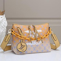 Louis Vuitton LV Women Fashion Chain Tote Handbag Shoulder Bag