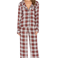 Wildfox Couture Classic PJ Set in Sun Bleached Plaid