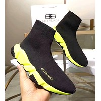 Balenciaga 2019 new women's knit socks wild high elastic sports shoes