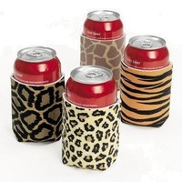 Leopard/animal Print Can Insulator (12 Pack)