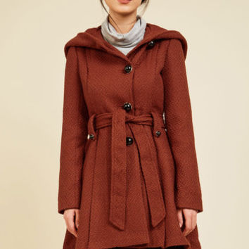 Once Upon a Thyme Coat in Paprika | Mod Retro Vintage Coats | ModCloth.com
