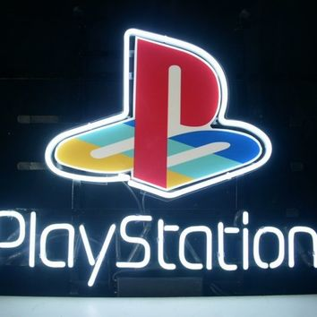 New Playstation Real Glass Neon Light Sign Home Beer Bar Pub Game Room Sign L97