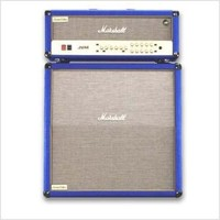Marshall Amplifier Custom Electrified Range Half Stack with JVM205H 50-Watt Valve Amp Head/Matching 1960A Cabinet - Blue | Hello Music