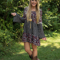 Day Dreams In Bloom Tunic/Dress - Burgundy/Floral