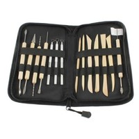 StarSide 14 Pcs Wooden Metal Pottery Sculpture Professional Clay Tool Kit