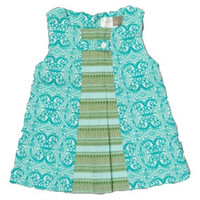 Kate Quinn Organics Pleated Green Kenya Dress