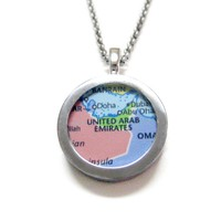 United Arab Emirates Map Pendant Necklace