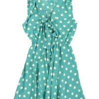 Turqouise Sugar Spot Skater Sun Dress | $16.50 | Cheap Casual Dresses Fashion | MODdeals.com
