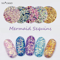 1bag Mermaid Sequins Solvent Resistant Glitters Chameleon Nail Glitter Sequins Nail Paillettes Nail Sparkle Glitters