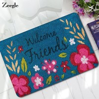 Autumn Fall welcome door mat doormat Zeegle Flower Pattern Welcome  Outdoor Entrance Mats Anti-slip Kids Room Carpet Bedside Rugs Floor Mats Bathroom Carpets AT_76_7