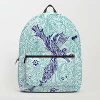 An emerald world is listening... Backpack by anipani