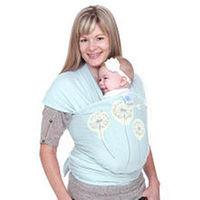 Moby Wrap Original Baby Carrier - Mint Dandelion