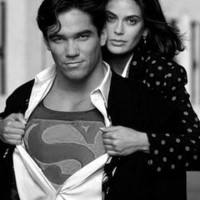 """Lois And Clark poster Metal Sign Wall Art 8in x 12in 12""""x16"""" Black and White"""