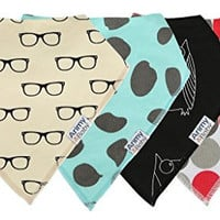 Arimy Baby Cool And Geeky Unisex Baby Bandana Drool Bibs-Set of 4 Organic Cotton Bibs