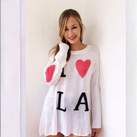LA Hearts Sweater- Multi