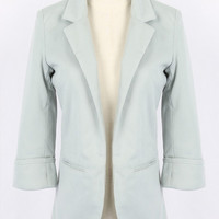 Slim Blazer In Light Blue