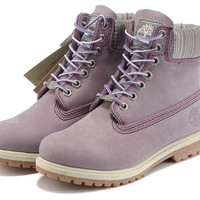 Purple Timberland Womens 6 Inch Boot