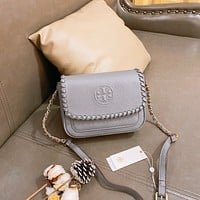 Tory burch Women Leather monnogam Handbag Crossbody bags Shouldbag Bumbag