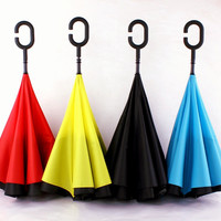 Stylish Design Strong Character Double-layered Cars Umbrella [10151408780]