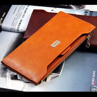 NEW fashion women leather long wallets wallet ladies purse bag handbag card package