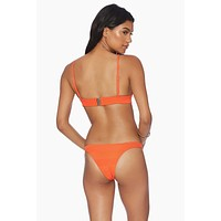 Daniela Fitted Brazilian Bikini Bottom - Orange
