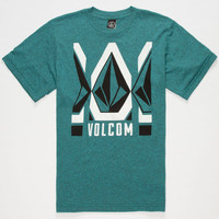 Volcom Royce Boys T-Shirt Turquoise Combo  In Sizes