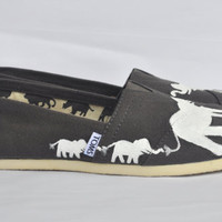 Hand Painted Elephant TOMS