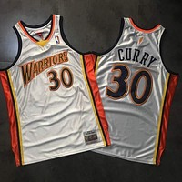 2009-10 Mitchell & Ness Warrior 30 Curry Basketball Jersey