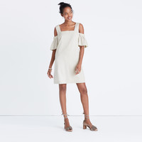 Striped Cold-Shoulder Dress : shopmadewell day-to-night dresses   Madewell