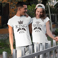 KING QUEEN t-shirts, King and Queen couples shirts, Couples shirts, matching couples shirts, couple tees, king queen matching shirts