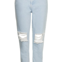 MOTO Ice Ripped Mom Jeans - Topshop