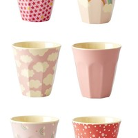 Pretty in Pink Pastel Small Melamine Cup Set by Rice - LAST ONE!