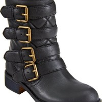 Marc by Marc Jacobs Buckle Strap Moto Boot